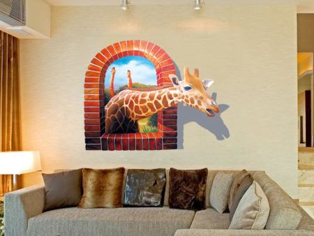 Wall Sticker Giraffe Visit