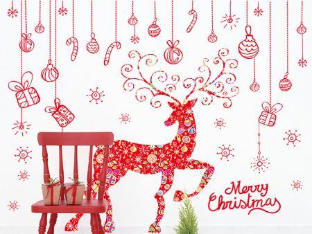Wandtattoo Merry Christmas Elch