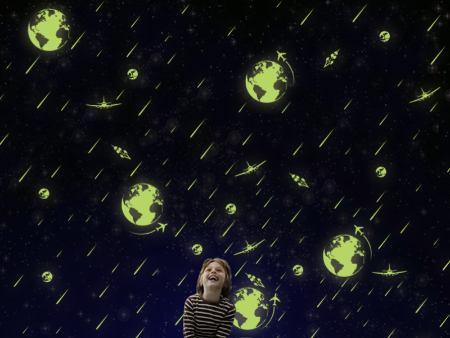 Wandtattoo Leuchtendes Weltall