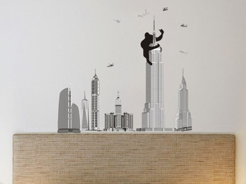 Wandtattoo Berühmte Skyline