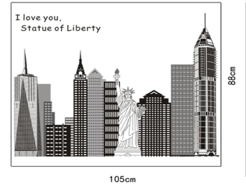 Wandtattoo NYC Freiheitsstatue