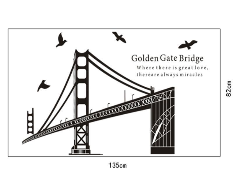 Wandtattoo Golden Gate Bridge