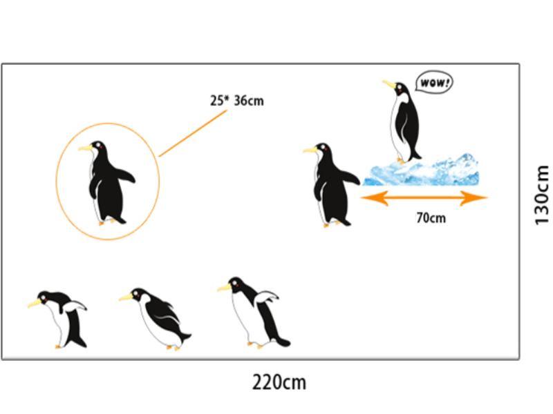 Wandtattoo Pinguine