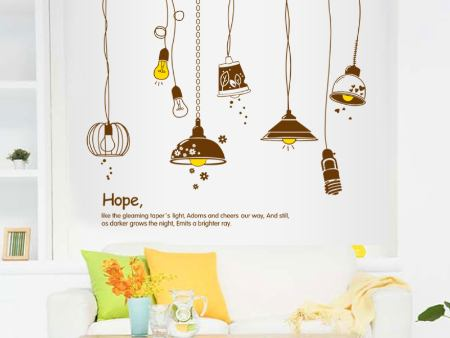 Wall Sticker Hanging Lamps AS