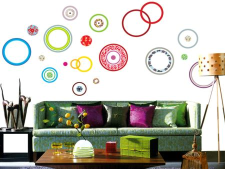 Wall Sticker Colorful Circles
