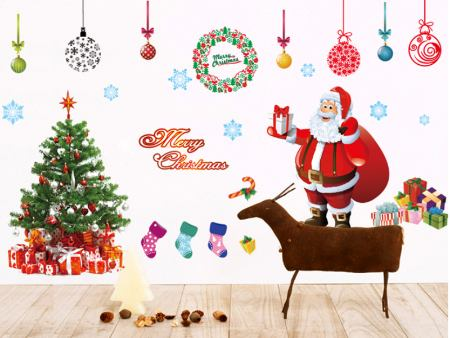 Wandtattoo Weihnachtsmann