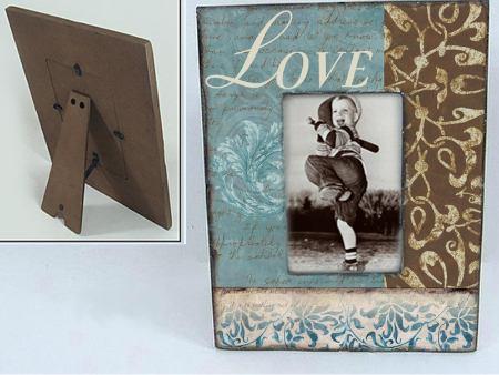 Vintage Holzfotorahmen LOVE