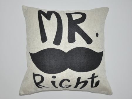 Kissenbezug MR. Right mit Bart