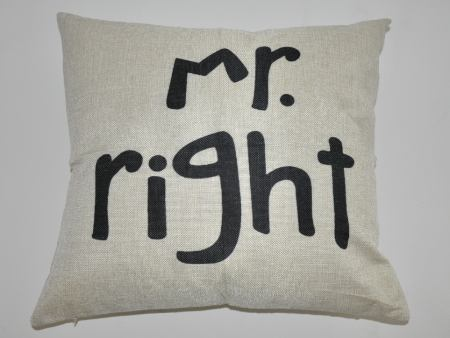 Copertura del cuscino Mr. Right