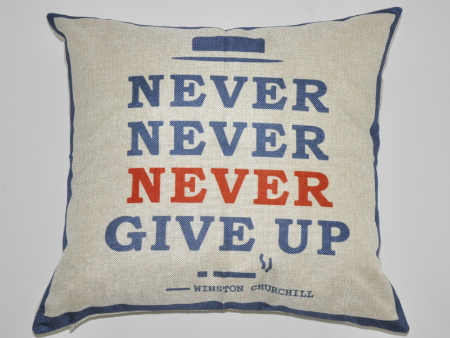 Copertura del cuscino Never Give Up