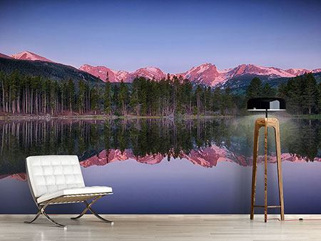 Photo Wallpaper Sprague Lake Rocky Mountains