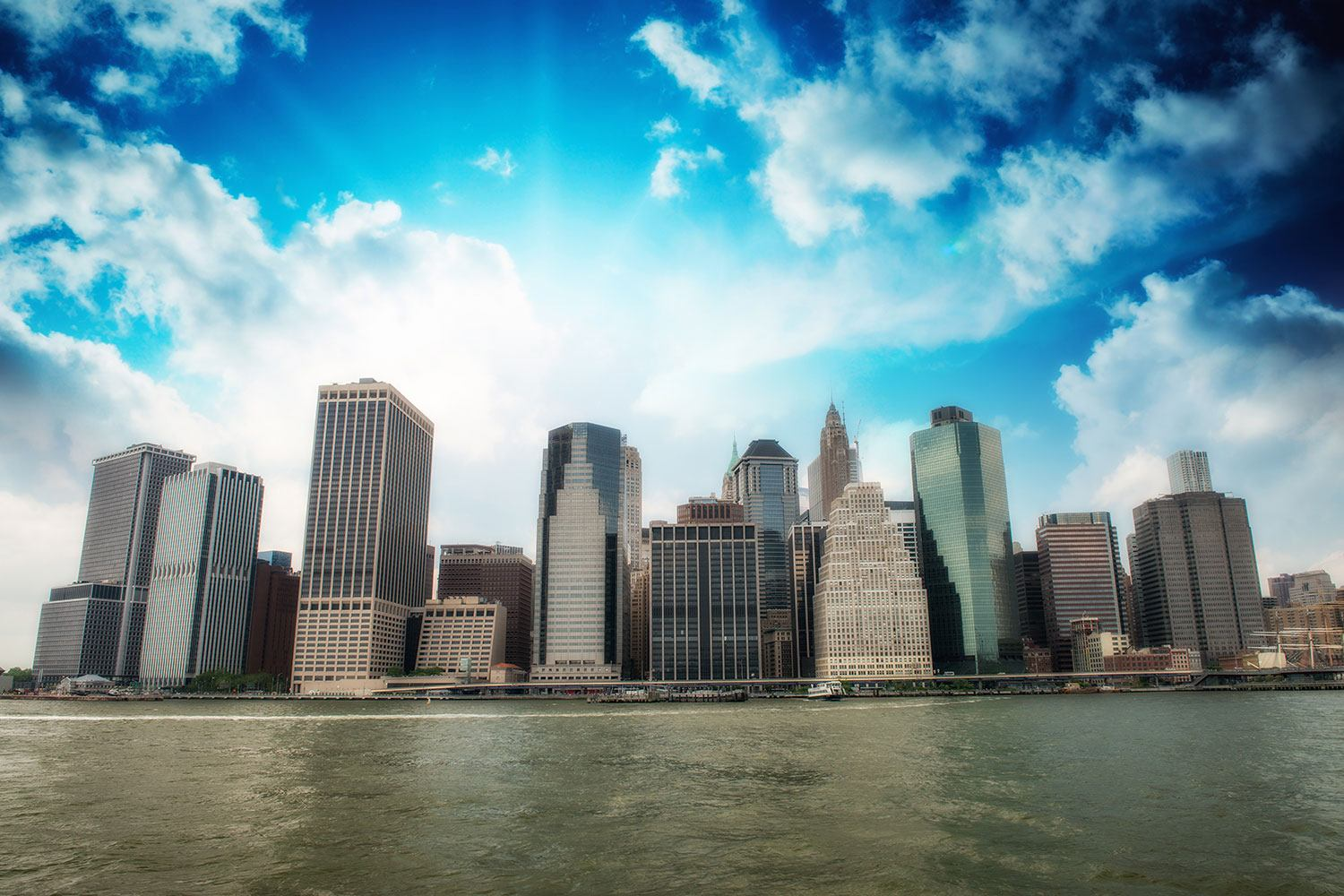 Papier peint photo Horizon sur Lower Manhattan