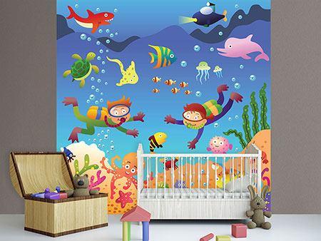 Fototapete kinderzimmer fische kinderzimmer for Kinderzimmer unterwasserwelt