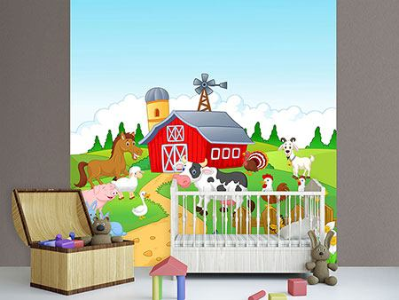 Photo Wallpaper Funny Farm